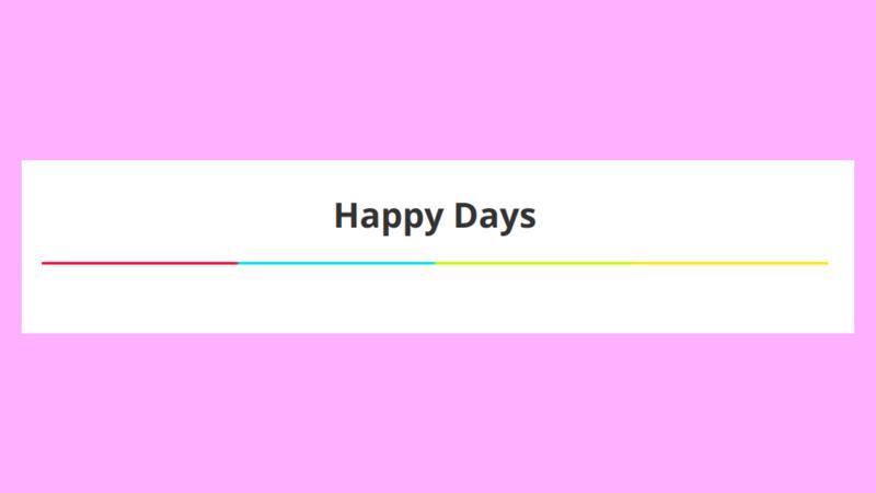 4色をはっきりと区切ったボーダーの例