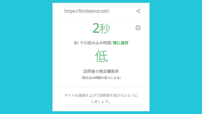 Test My Siteの結果は2秒