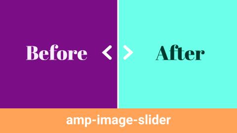 2枚の画像をスライダーで比較するamp-image-slider