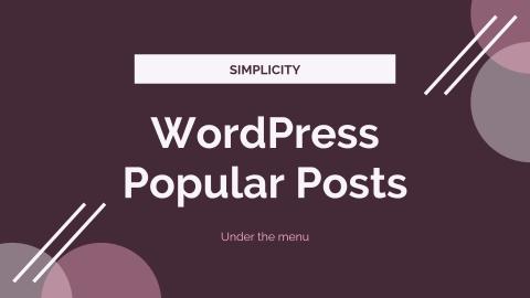 Simplicityのメニュー下に人気記事を表示するカスタマイズ