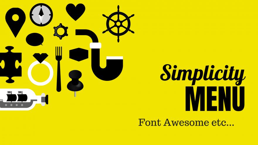 Font Awesomeの表示などSimplicityのメニューのカスタマイズ方法
