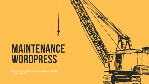 WordPressプラグインのComing Soon Page & Maintenance Mode by SeedProdを使いメンテナンスページを作成