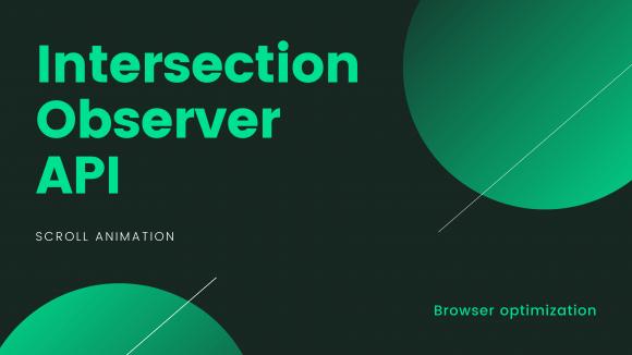Intersection observer API を使い画面に入った要素にアニメーションを適用する方法